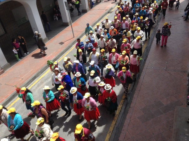 Safest way to walk in Cuenca?  Be a part of a parade.  There's always a police escort.
